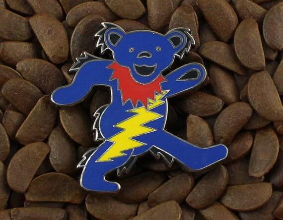 7be9f89fcfd Grateful Dead Pins Happy Pooh Bear Lighting Bolt Badge Pin
