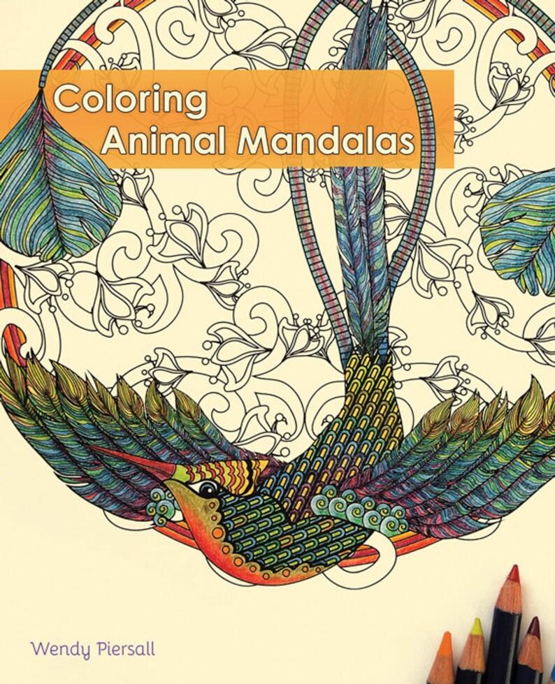 Libro Da Colorare Adulto Colorare Mandala Animali Firmato Etsy