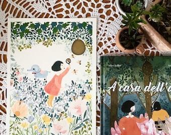 illustration print, art print, girl illustration print, flowers illustration print , watercolor print, stampa d'illustrazione