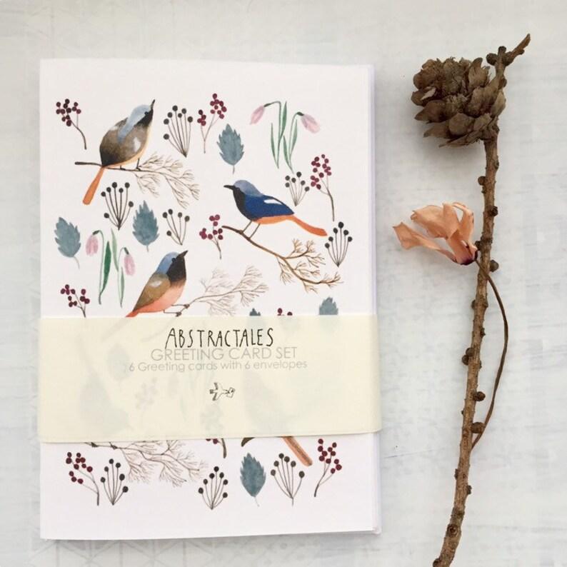 Bird note card set bird greeting card bird stationery bird image 0