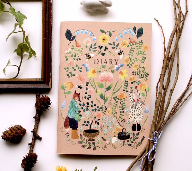 A5 illustration notebook diary notebookwatercolor notebook image 0