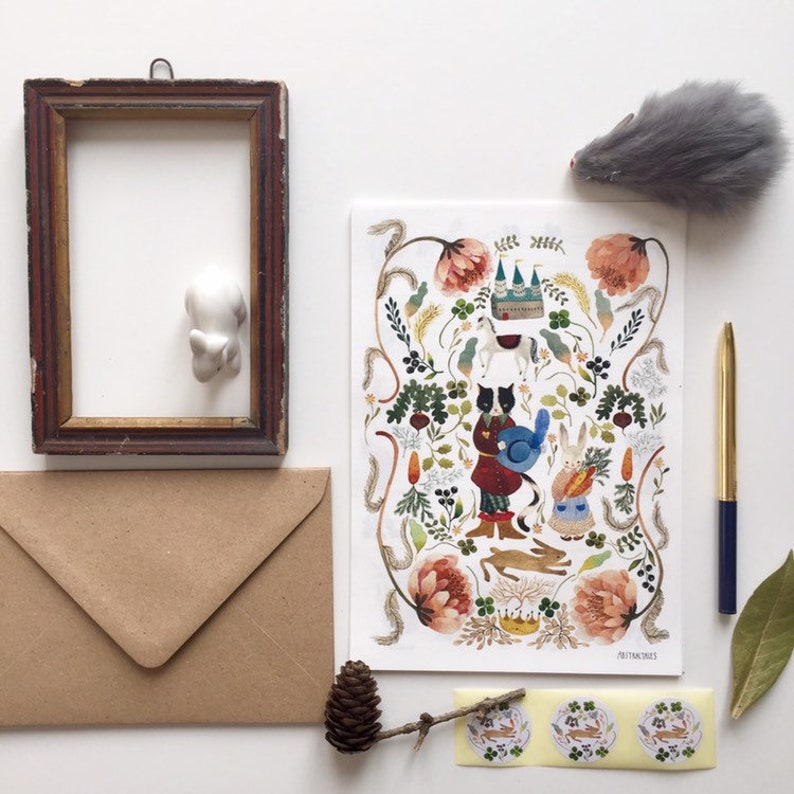 Letter paper set letter writing set with watercolour image 0