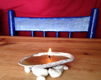 Beeswax Candle in a Seashell