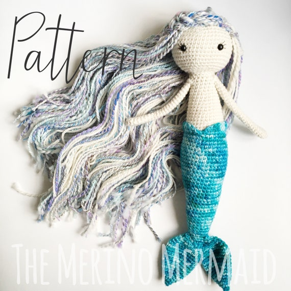 Miriam the Mermaid Crochet Amigurumi Doll Toy Pattern pdf | Etsy
