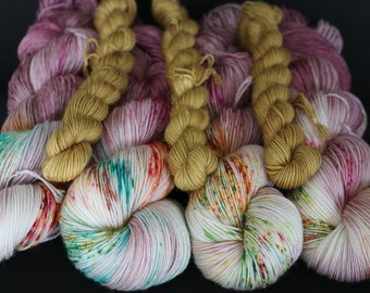 Bertie Botts Every Flavour Beans - HoneyDukes Sock Club - Harry Potter Inspired Hand Dyed Yarn - 100g / 400m + 20g 80m Sock Club