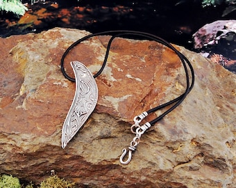 Fine Silver Textured Necklace