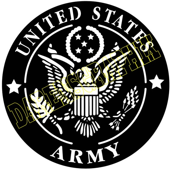 Dxf File Of The Us Army Emblem For Use With A Cnc Machine Etsy
