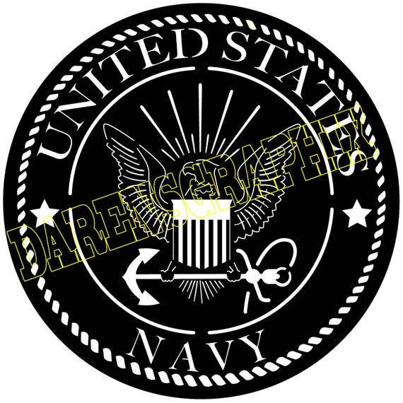 Dxf File Of The Navy Emblem For Use With A Cnc Machine Etsy