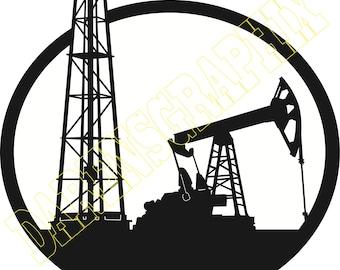 """DXF File """"Oil Rig"""""""