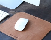 Personalized Fine Leather Mouse Pad Mousepad Office Desk Pad corporate gift business ,Gifts for Him- Gifts for Her- The Architect