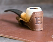 Personalized Groomsmen Gift - The Personalized Fine Leather Pipe Boat Holder - Groomsmen Gifts - Best Man Gift, Gifts for Him