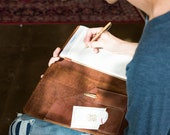 Personalized The Vanderbilt Fine Leather Portfolio - Groomsmen Gifts - Wedding Party Gift - Best Man Gift - Journals -Christmas Gift For Him