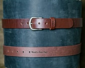 No. 101 Fine Leather Belt in Dark Brown - Gift for Him With Secret Message - Gift for Boyfriend, Gift for Husband, Gift for Grads