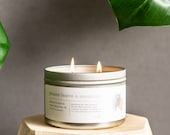 Please Leave a Message 11 oz Tin 2 Wick Coconut Soy Wax Candle Volcano Candle Gift for Her Mothers Day Gift Friendship