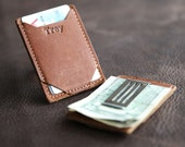 Personalized Money Clip Front Pocket Fine Leather Wallet - Money Clips - Card Wallet - Men's Wallets - The Trey - Father's Day Gifts for Him