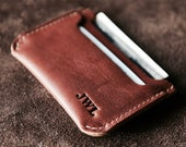 Personalized Groomsmen Gift Double Sleeve Mens Leather Front Pocket Wallet Gifts for Men, Wedding Party Gift Graduation Gift - The Bradford