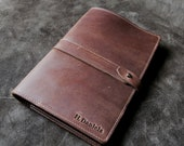 Personalized  Fine Leather Journal Notebook Cover A5 Moleskine Diary - The Inventor - Christmas Gifts for Him