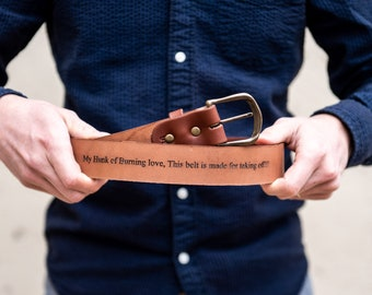 Personalized Mens Leather Belt Gifts-Personalize Monogram-Custom Made Chestnut Full Grain-Wedding Party Gift-Fathers Day-Groomsmen Best Man
