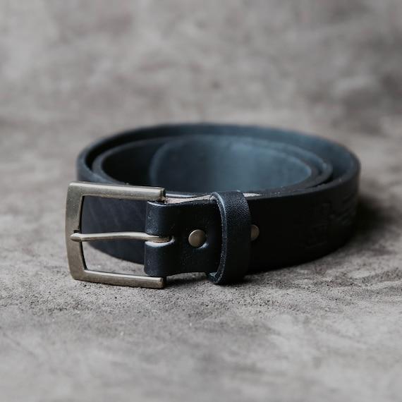 N 202 Fine ceinture en cuir noir personnalisé personnalisé   Etsy d5447482448