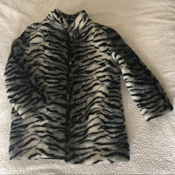 Tiger Print Faux Fur Jacket