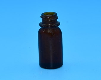 Brockway Glass Apothecary Small Brown Jar Vintage Tiny Medicine Brown Bottle Old Potion Vial Brockway Glass Company FREE SHIPPING