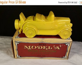 Sale Clearance Avon Model A Car Full Bottle Original Box Vintage Wild Country After Shave 1926 Ford Model A Yellow Glass Car Cologne Decante