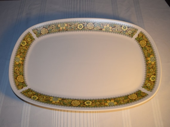 """Noritake Progression Festival 15"""" Serving Platter Vintage Oval Serving Tray Hard to Find Rare 1970s Noritake Replacement Discontinued China"""