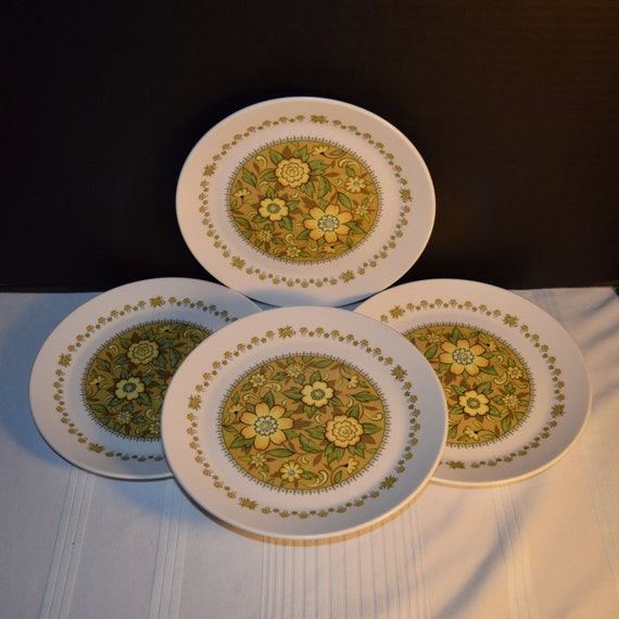Noritake Progression Festival 4 Salad Plates Vintage Set of 4 Salad Plates Hard to Find Rare 1970s Noritake Replacement Discontinued China
