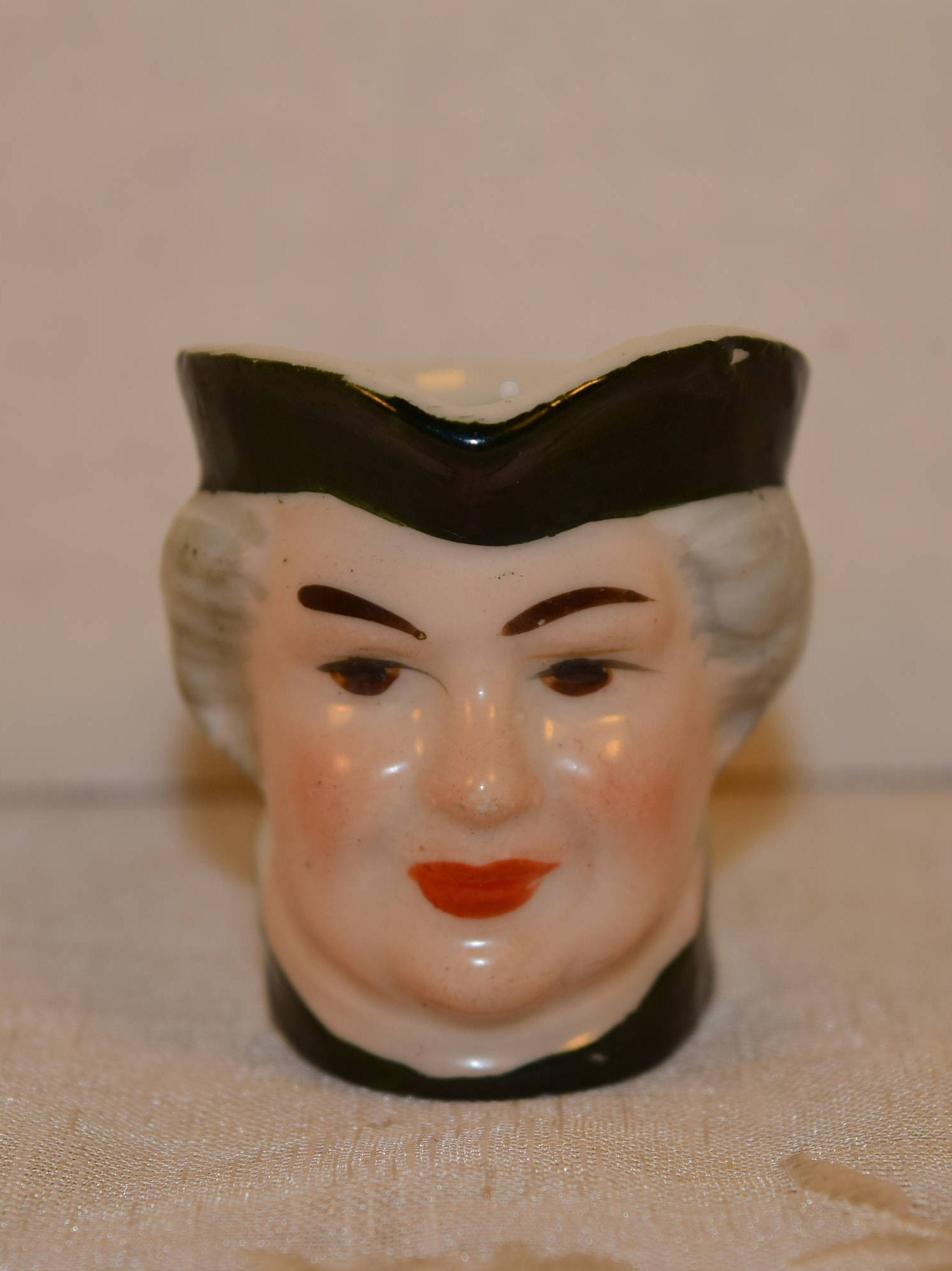 Miniature Toby Pitcher Vintage Colonial Man Head Jug Made In Japan Tiny Toby Character Mug Colonial Face Pitcher Toby Collectible