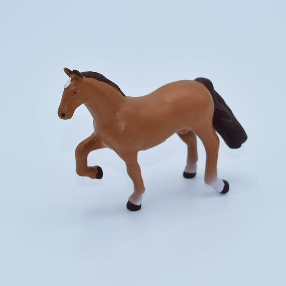 Saddlebred Horse Figurine Vintage Horse Toy Funrise 1988 Toy Horse Figure Farm Animals Equestrian Cake Topper Horse Collectible Lover