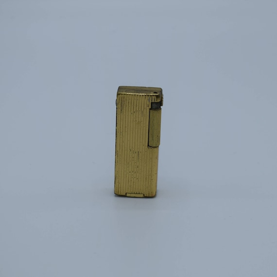 Caddy Zaima Lighter Vintage Gold Tone Butane Lighter Made in Japan Mid Century Modern Cigarette Tobacciana Collectible