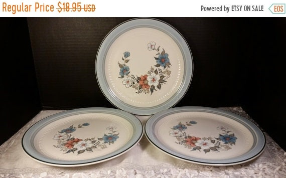 Sale Clearance Crowning Fashion Blue Bouquet 3 Dinner Plates Vintage Johann Haviland Japan Dinnerware Set of 3 Plates Replacement China Coun