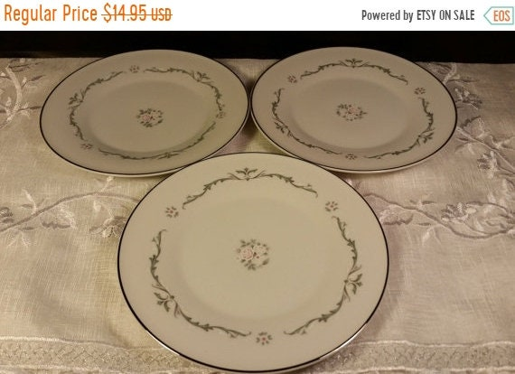 Sale Clearance Petite Bouquet Bread Butter Plates Made In Japan, Fine China Signature Collection Vintage Set of 3 plates Replacement China S