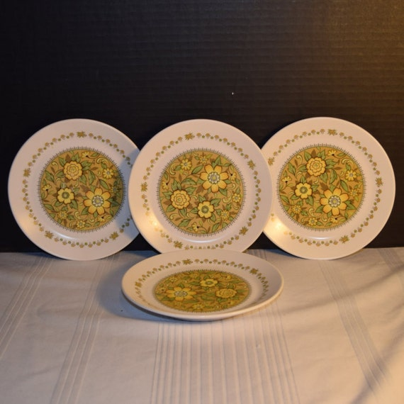Noritake Progression Festival 4 Bread Butter Plates Vintage Set of 4 Plates Hard to Find Rare 1970s Noritake Replacement Discontinued China