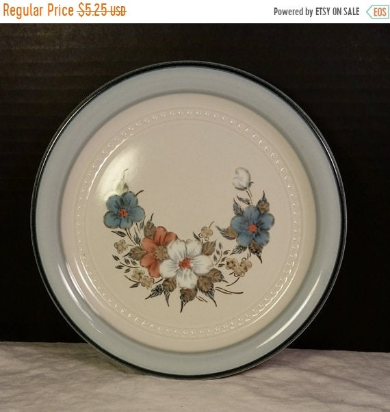 Sale Clearance Crowning Fashion Blue Bouquet Salad Plate Johann Haviland Vintage Japan Floral Small Plate Haviland Dinnerware Salad Lunch Co