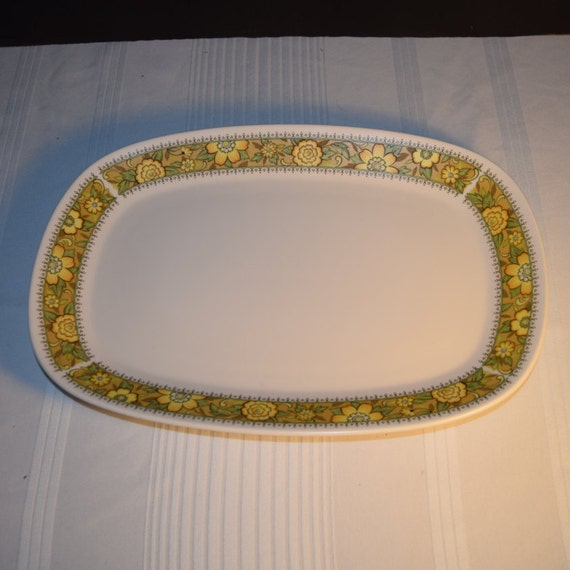 """Noritake Progression Festival 13"""" Serving Platter Vintage Oval Serving Tray Hard to Find Rare 1970s Noritake Replacement Discontinued China"""