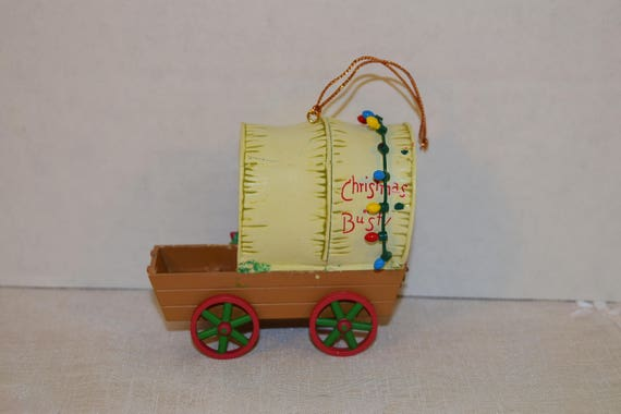 Santa's Best Christmas Collectible Ornament Vintage Christmas or Bust Wagon Ornament Keepsake Holiday Ornament Christmas Tree Ornaments