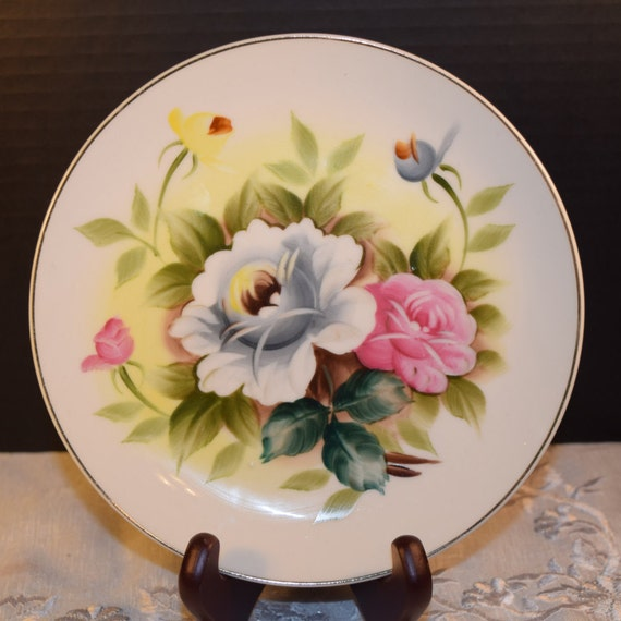 Shafford Kashmir Rose Salad Plate Vintage Kashmir Rose Salad Plate Discontinued China Replacement Holiday Dinnerware Mothers Day Gift