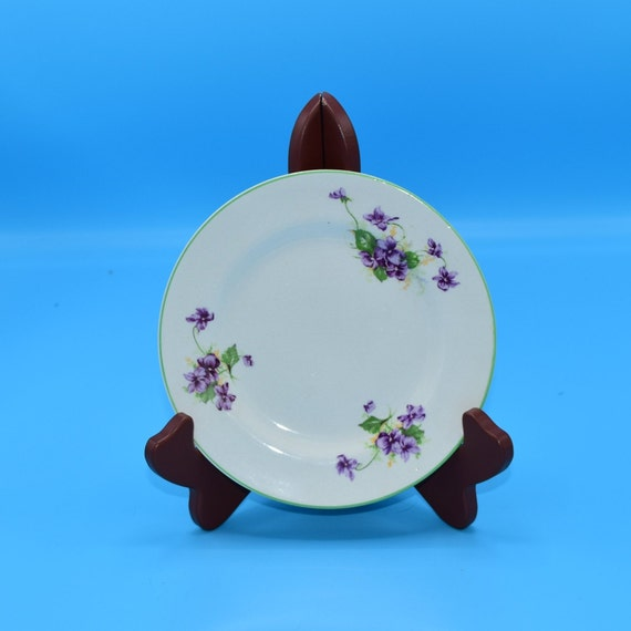 Fondeville Ambassador Ware Small Plate Vintage Purple Violets Lunch Plate English China Plate Afternoon Tea Party Gift for Her Wedding Decor