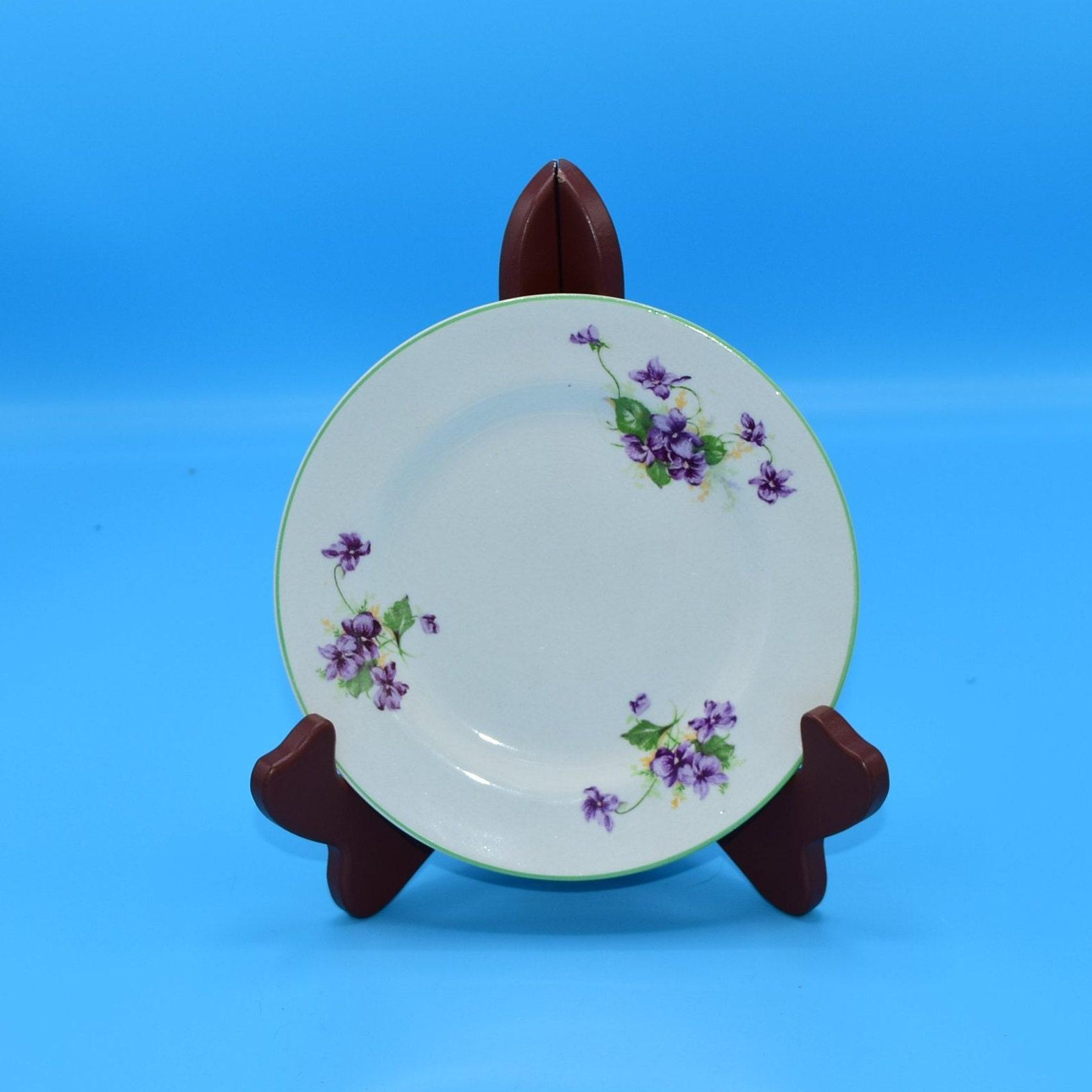 Fondeville Ambassador Ware Small Plate Vintage Purple Violets Lunch