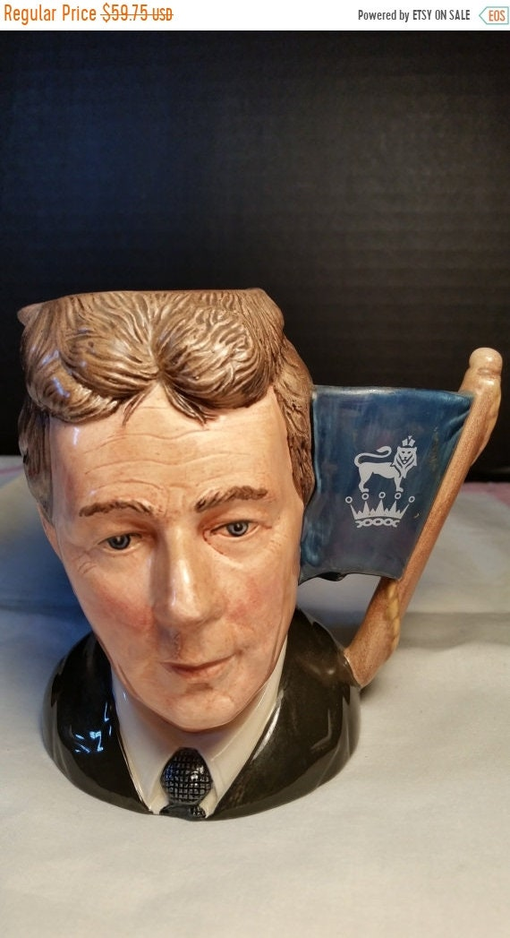 Sale Clearance Michael Doulton Signed Toby Mug Vintage Royal Doulton D6808 1988 Dated Signature by Michael Doulton of Royal Doulton Company