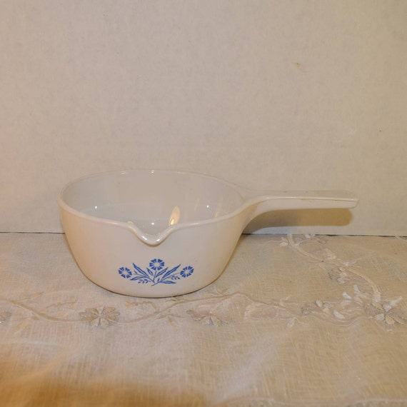 Cornflower Blue Sauce Pan Vintage Corning Ware 2.5 Cup Saucepan P-89-B with Spout Gravy Pan Made in USA Microwave Safe Replacement Saucepan