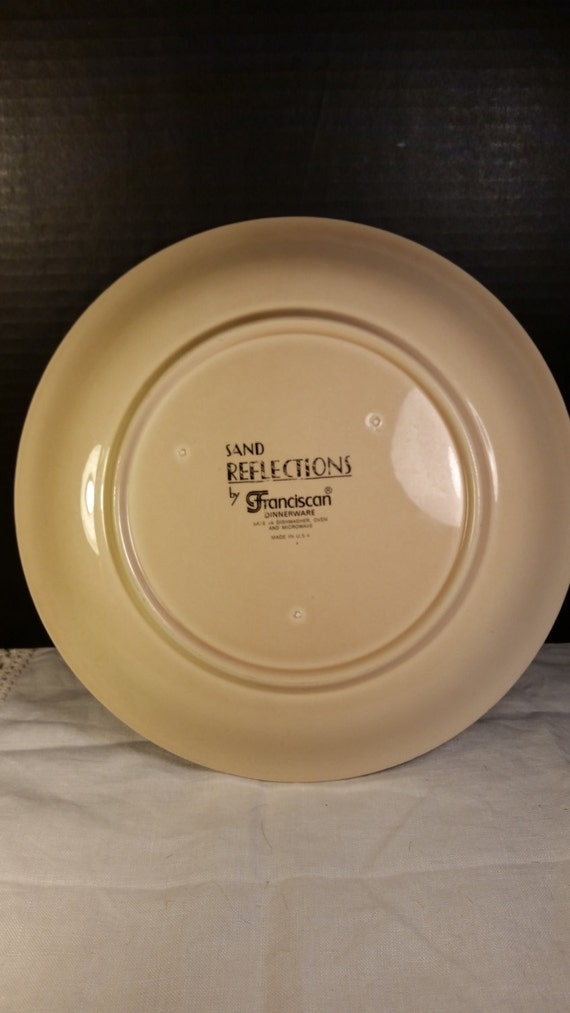 Like this item? & Franciscan Sand Reflections Dinner Plate Vintage Large Cream
