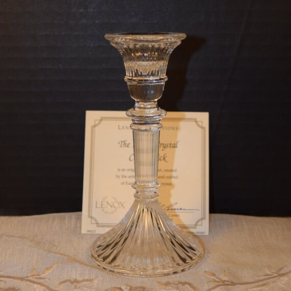 Lenox Crystal Candleholder in Box Vintage Elegant Crystal Candlestick Holder Full Lead Crystal Wedding Candlestick Holder Wedding Gift