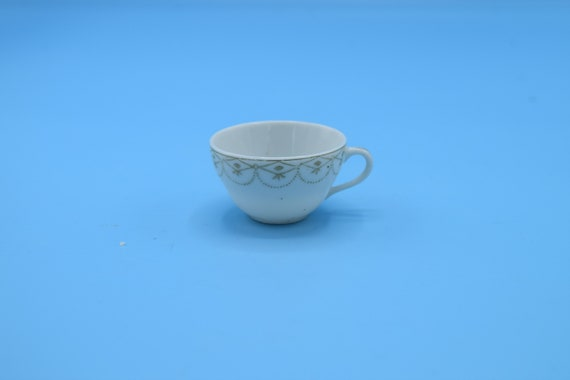Pico Occupied Japan Miniature Tea Cup Vintage Miniature Porcelain Cup White & Gold Dollhouse Cup Gift for Her Replacement Cup