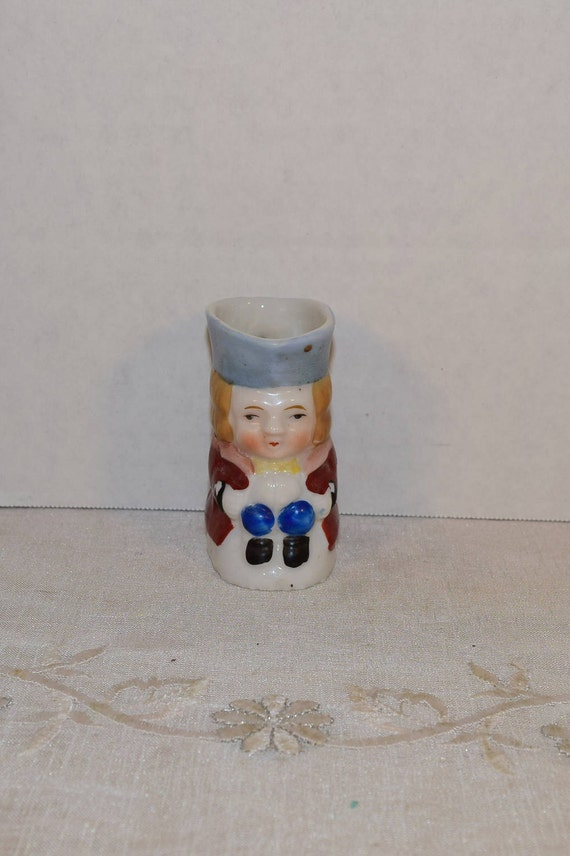 Miniature Toby Pitcher Vintage Made in Occupied Japan Colonial Man Mini Creamer Tiny Jug Japan Miniature Collectible