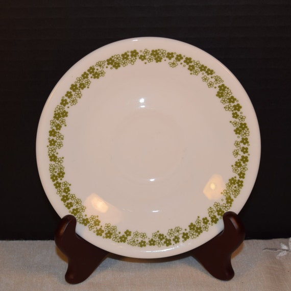 Corning Corelle Saucer Spring Blossom Vintage Corelle Livingware Green Flower Pattern Tea Saucer Crazy Daisy Saucer Plate Everyday China