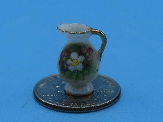 "Miniature Dollhouse Blue Birds colbalt 1:12 antique /""tin/"" sign nest eggs"