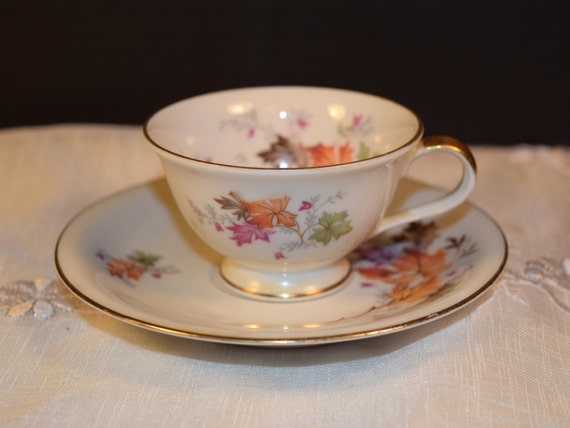 Chalfonte Indian Summer Demitasse Cup & Saucer Vintage Saladmaster Bavaria Footed Cup Saucer Discontinued China Replacement Gift For Her