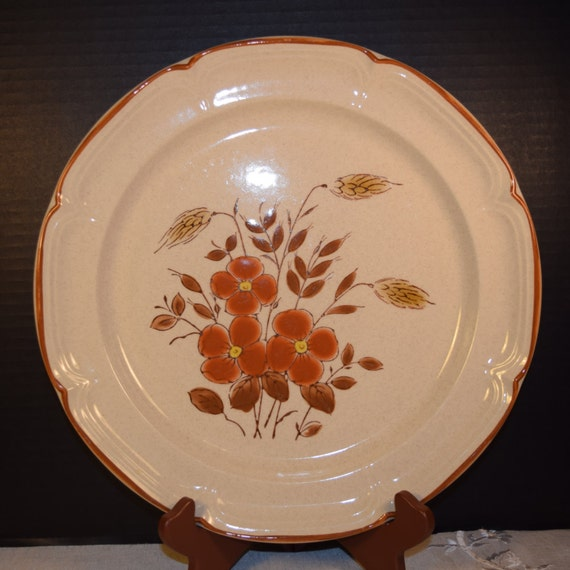 Country Cousins Monique Stoneware Chop Plate Vintage SY 7847 Japan Stoneware Platter Dinner Plate International China Replacement China